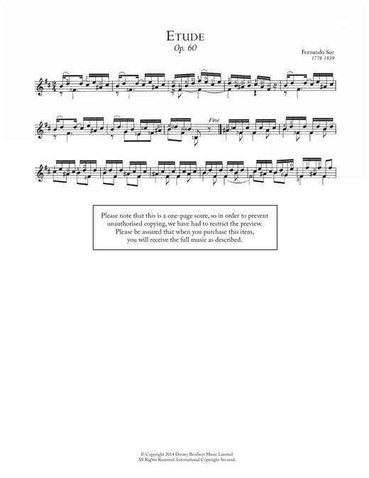 Etude, Op.60 Sheet Music