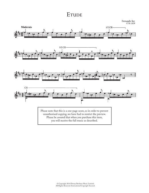 Etude Sheet Music