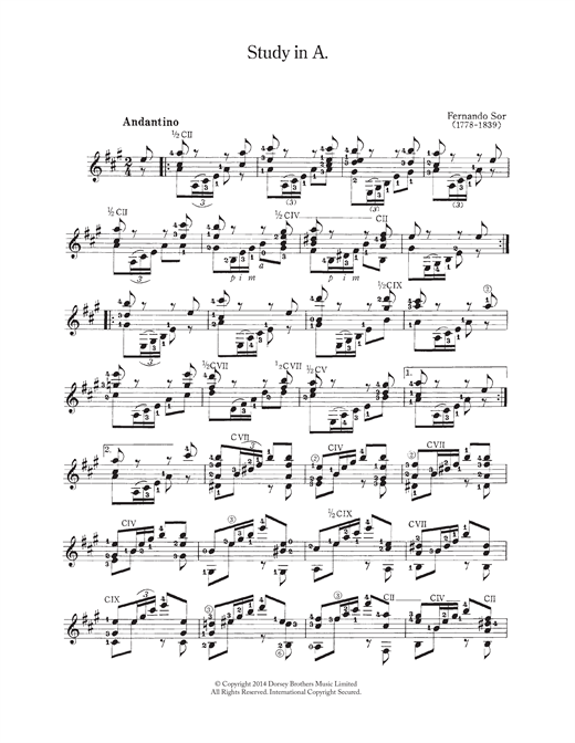 Study In A Sheet Music