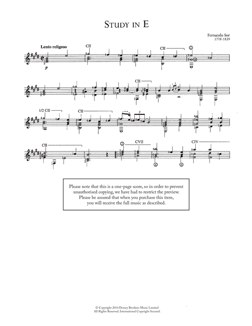 Study In E Sheet Music