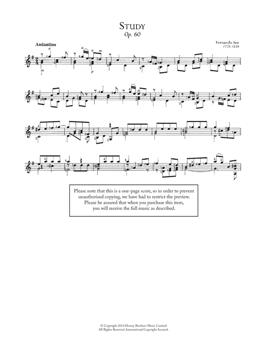 Study, Op.60 Sheet Music