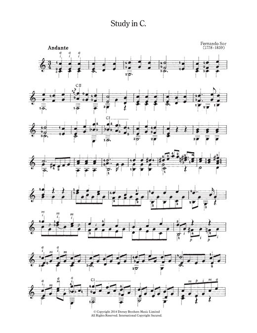 Study In C Sheet Music
