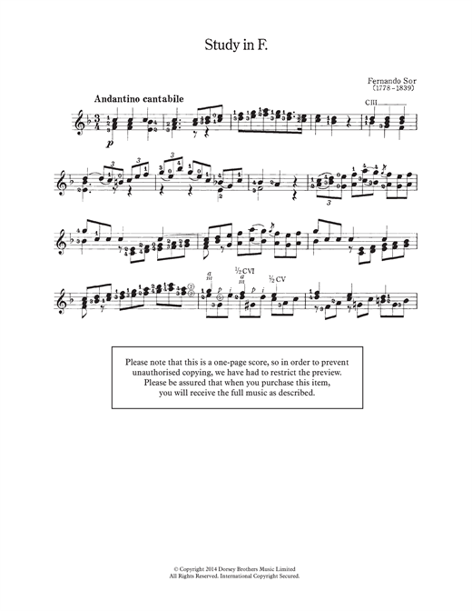 Study In F Sheet Music