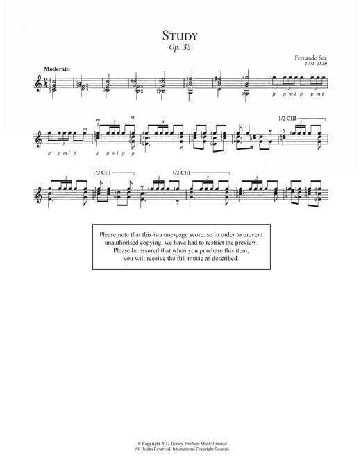 Study, Op.35 Sheet Music