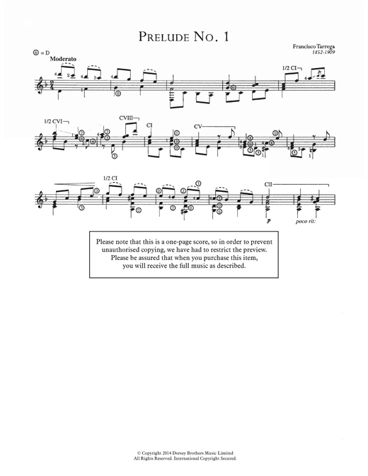 Prelude No.1 Sheet Music