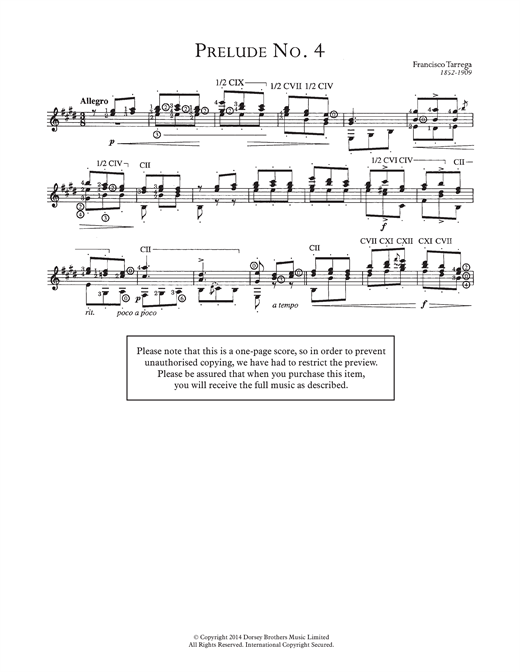 Prelude No.4 Sheet Music