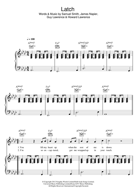 Latch (Acoustic) Sheet Music