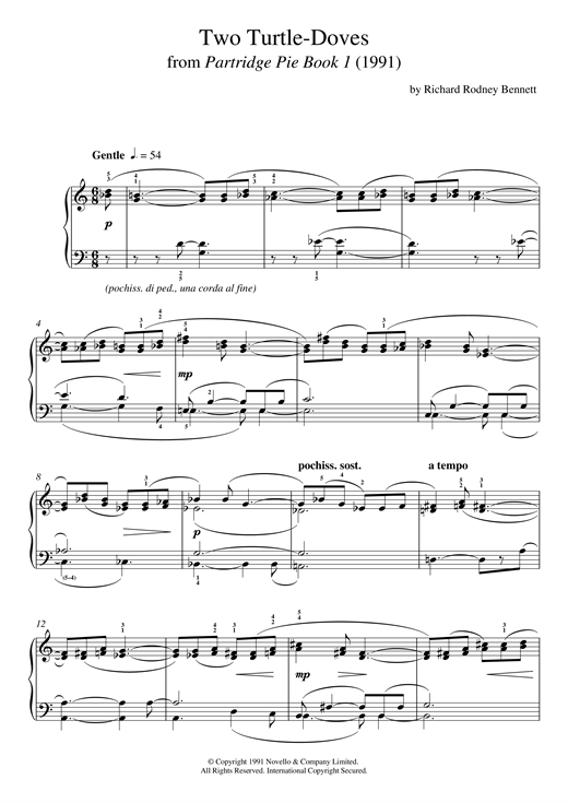Two Turtle Doves (From Partridge Pie) Sheet Music