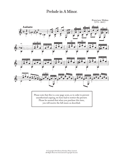 Prelude In A Minor Sheet Music