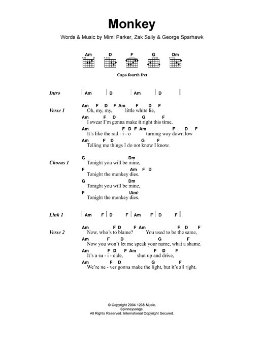 Monkey Sheet Music