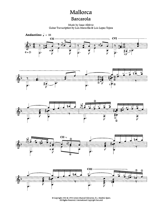 Mallorca Sheet Music