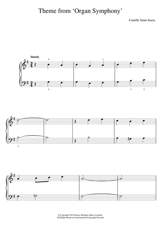 'Organ' Symphony (Theme) Sheet Music