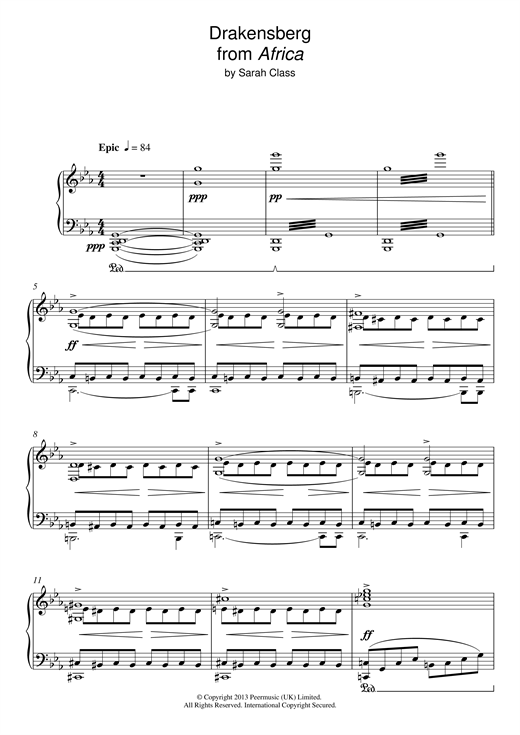 Draconsberg (from 'Africa') Sheet Music