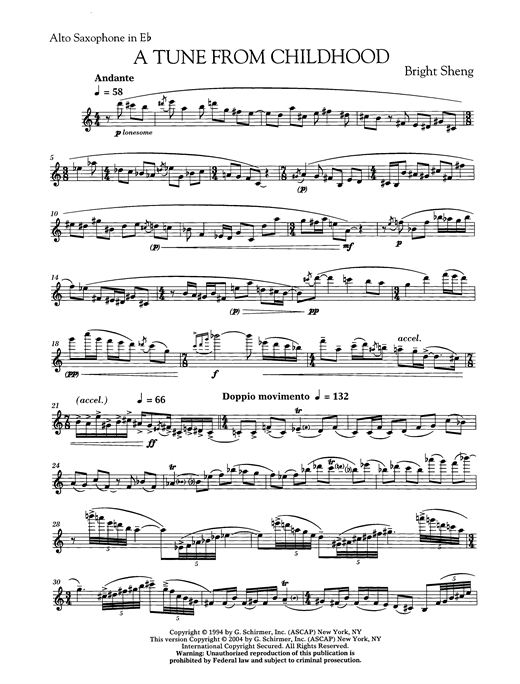 page one of Tune From ChildhoodASALTTEXT