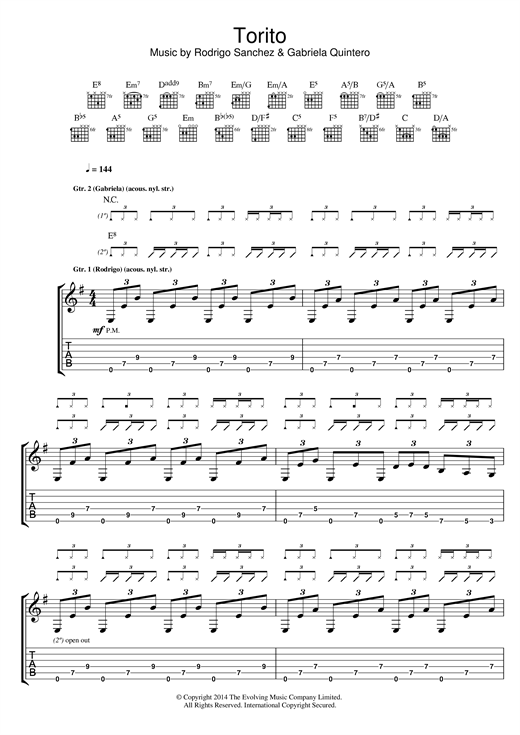 Torito Sheet Music