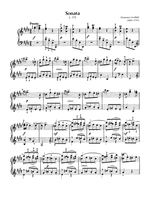 Sonata, L375 Sheet Music