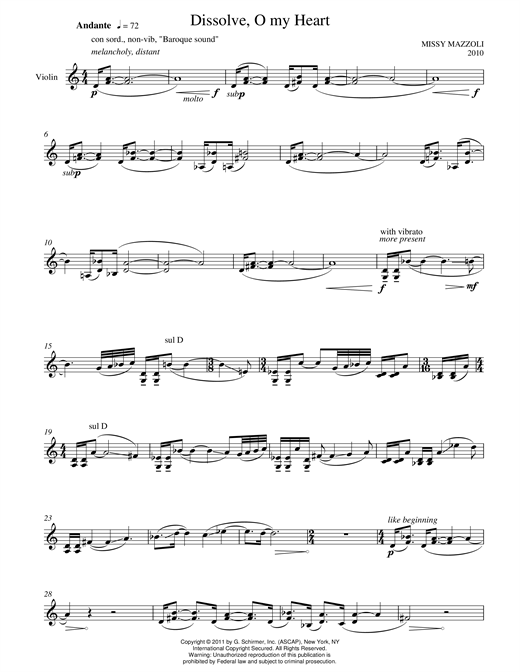 Dissolve, O My Heart Sheet Music