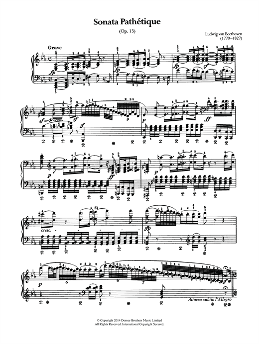 Sonata Pathetique, Op.13 Sheet Music