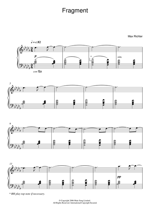 Fragment Sheet Music