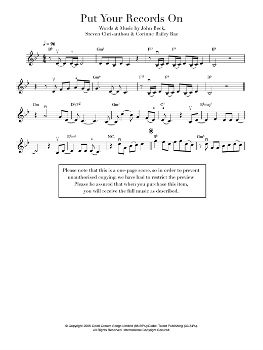 page one of Put Your Records OnASALTTEXT