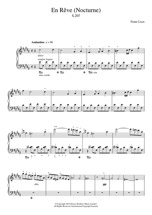 En Reve (Nocturne) Sheet Music