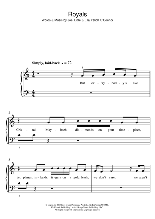 Royals Sheet Music