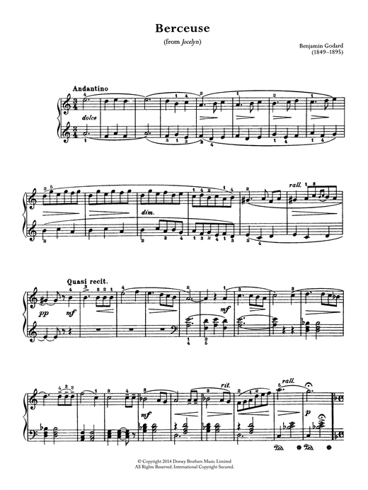 Berceuse (From Jocelyn) Sheet Music