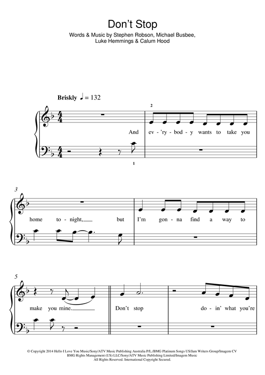 Don't Stop Sheet Music