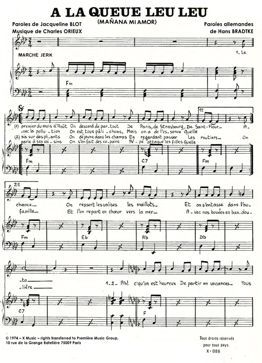 A La Queue Leu Leu Sheet Music
