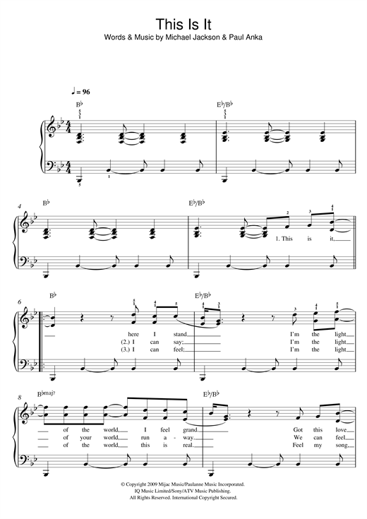 This Is It Sheet Music
