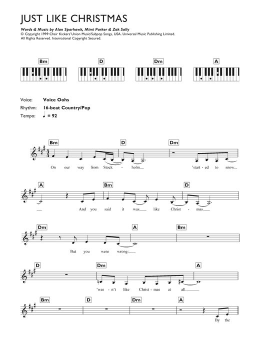 Just Like Christmas Sheet Music