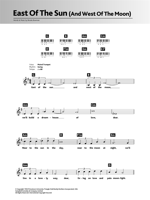 East Of The Sun (And West Of The Moon) Sheet Music