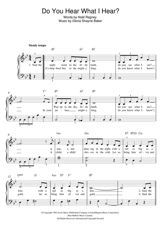Do You Hear What I Hear? Sheet Music