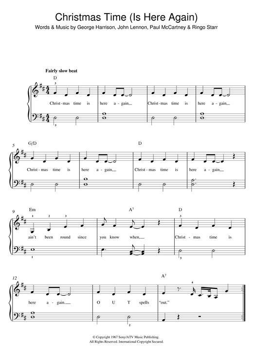 Christmas Time (Is Here Again) Sheet Music