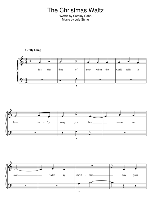 The Christmas Waltz (5-Finger Piano)