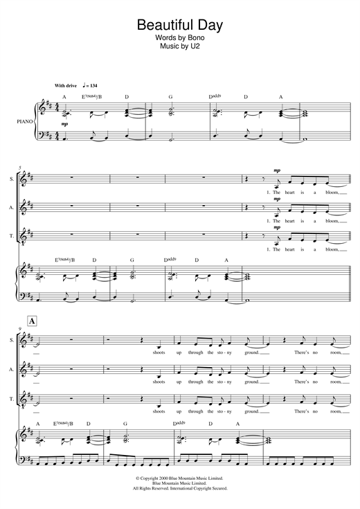 Beautiful Day (arr. Mark De-Lisser) Sheet Music
