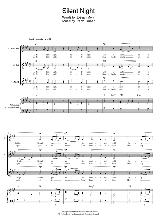 Silent Night (arr. Mark De-Lisser) Sheet Music