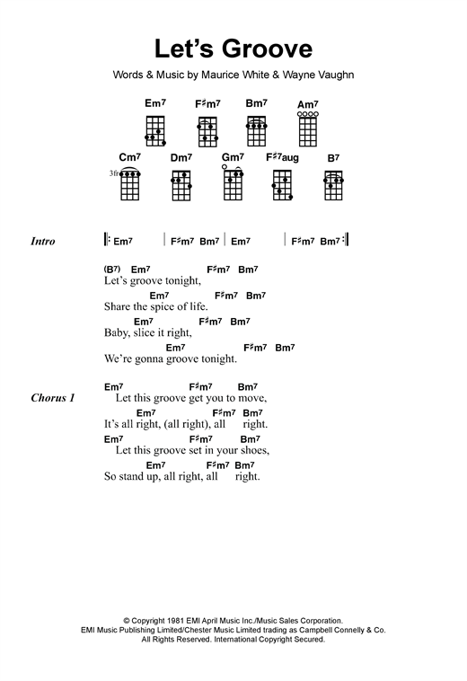 Let's Groove Sheet Music