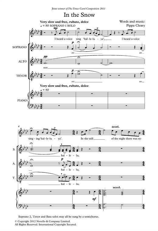 In The Snow Sheet Music