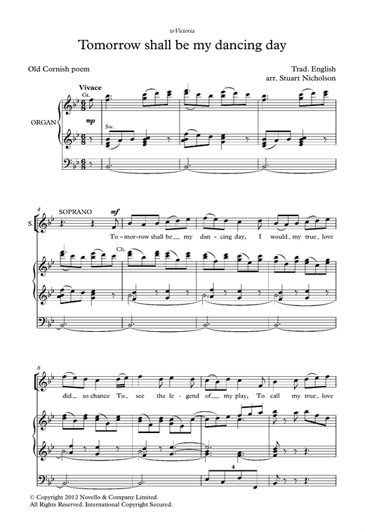 Partition chorale Tomorrow Shall Be My Dancing Day (arr. Stuart Nicholson) de Traditional - SATB