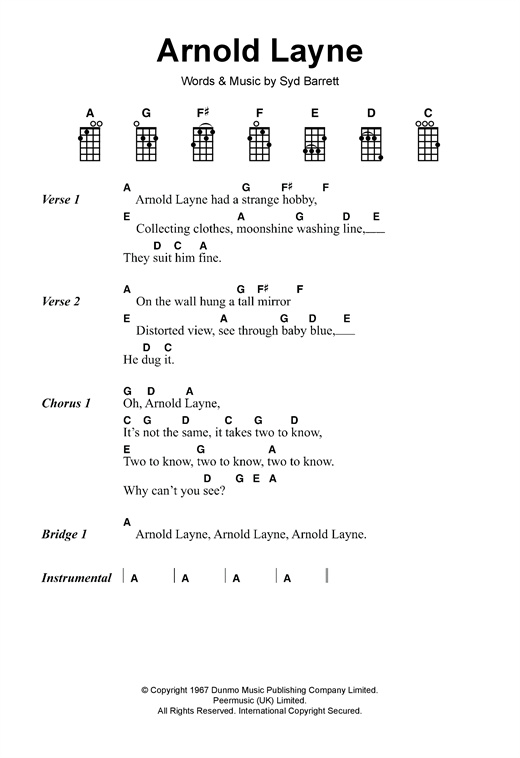 Arnold Layne Sheet Music