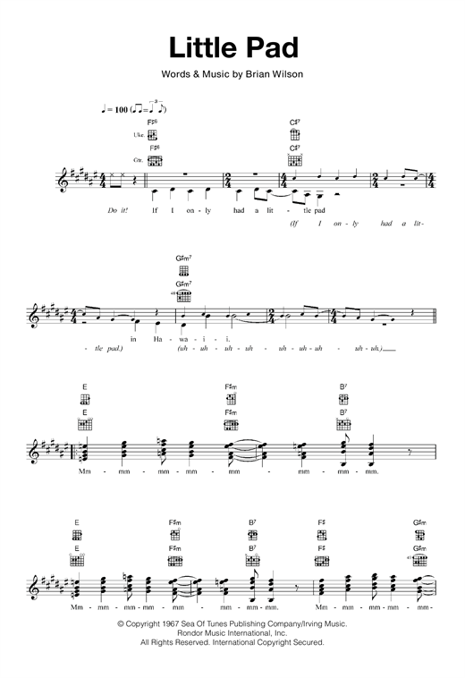 Little Pad Sheet Music