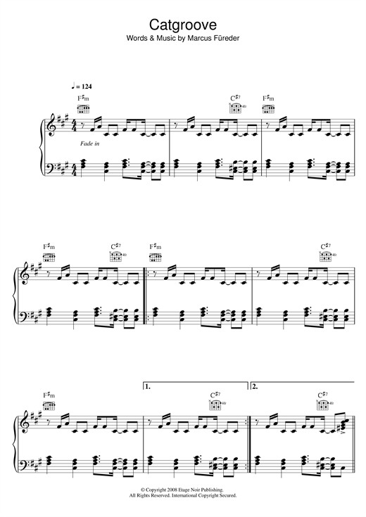 Catgroove Sheet Music
