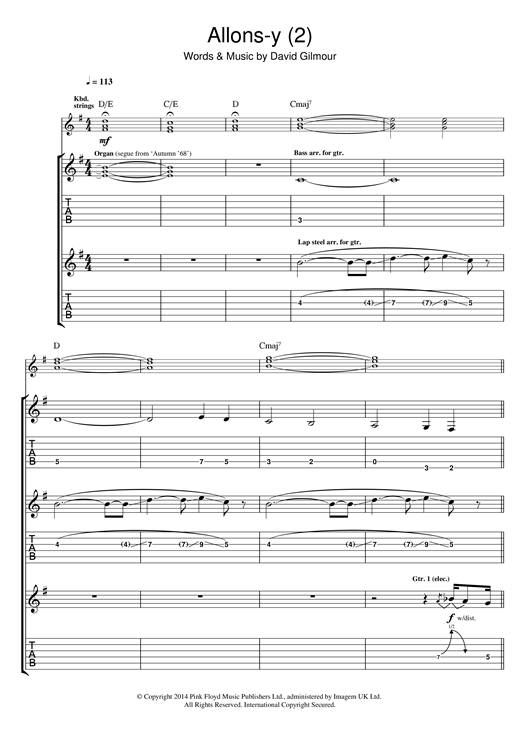 Allons Y (Part 2) Sheet Music