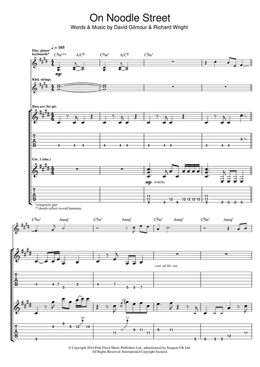 On Noodle Street Sheet Music