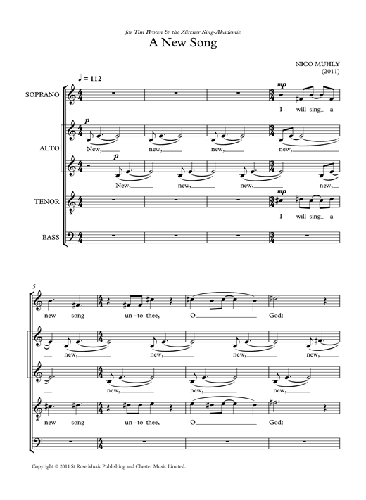 A New Song Sheet Music