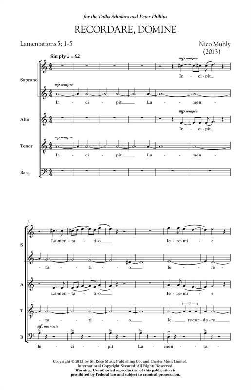 Recordare, Domine Sheet Music