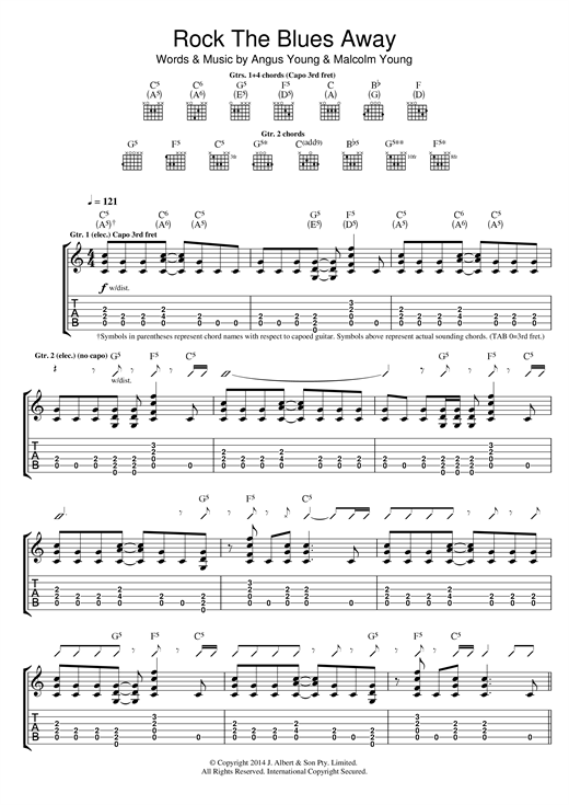 Rock The Blues Away Sheet Music