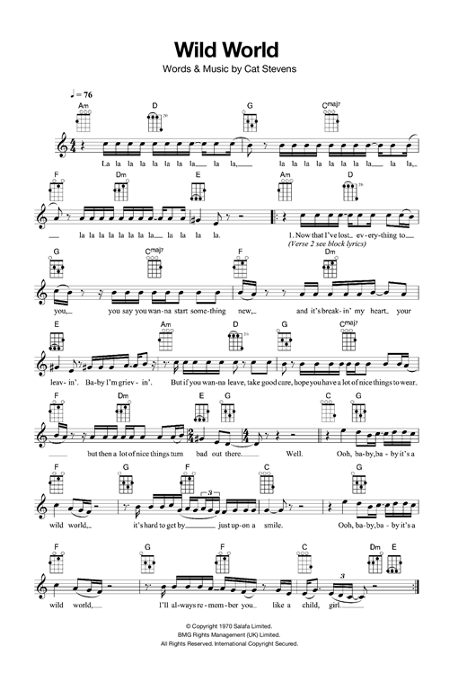 Wild World Sheet Music