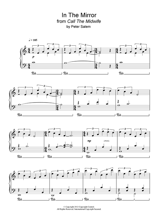 In The Mirror (from 'Call The Midwife') Sheet Music